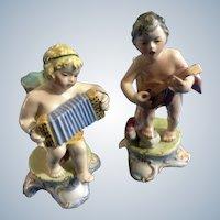 Italian Footed Bud Vase Boys (1920-1940) Porcelain Figurines