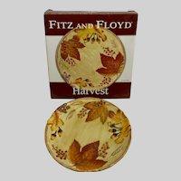 Fitz and Floyd Harvest Ceramic Canapé Plate Autumn Leaves Design