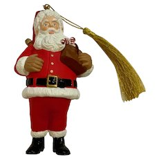 Hallmark Keepsake Applause Santa Candy Canes Christmas Ornament 1996 Membership