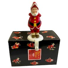 Dept. 56 Nick of Time Santa Stocking Hanger NIB 2001