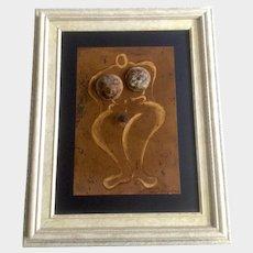Weird Albert Escalante, Nude Woman Wall Art Sculpture Mixed Media Painting