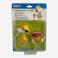 Rain Coat Snoopy & Woodstock Medicom Toy Figure Peanuts 7 Japan