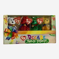 Decade Jingle Baby Beanies Christmas TY Teddy Bears Ornaments