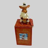 Christopher Radko Woodland Winds Christmas Bunny Rabbit Figurine