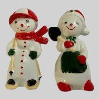 Vintage Snowman Treasure Masters Bone China Figurines