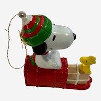 Vintage UFS Snoopy & Woodstock on Mailbox Christmas Tree Ornament