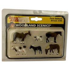 Miniature Dollhouse Farm Animals HO Scale Figures NIB