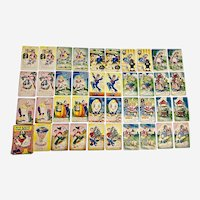 Mid-Century Russell Card Game Old Maid Mother Goose Edition