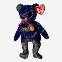 TY Comet Beanie Baby of The Month Bear Stuffed Plush Animal