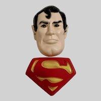 1977 Winton Superman Super Hero Boy's Cake Toppers Hard Plastic