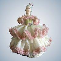 Karl-Heinz Klette, Lace Dress Lady Figurine Germany Sitting in a Chair TLC
