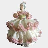 Karl-Heinz Klette, Lace Dress Lady Germany Figurine Sitting in a Chair. TLC