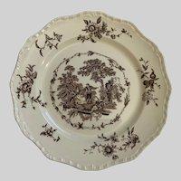 "Mason's Watteau Brown Dinner Plate 10-3/4"""