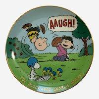 You Blockhead Charlie Brown Danbury Mint Peanuts Magical Moments Plate
