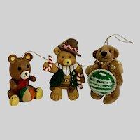 Adorable Christmas Teddy Bear Ornament Group