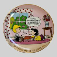 Peanuts To Know Me Is To Love Me Danbury Mint Peanuts Plate