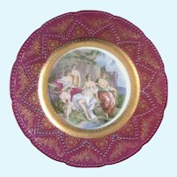 Imperial Lady Bathers Hand Painted Plate Maker's Mark #5 in Crown