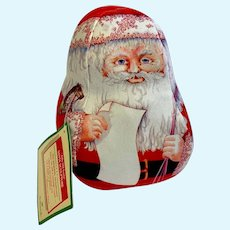 1983 Hallmark Christmas Jolly Old Santa Soft Sculpture Roly Poly Doll