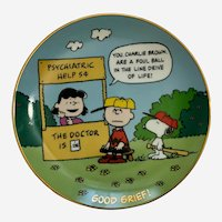 Peanuts Good Grief, Charlie Brown Snoopy Danbury Mint Peanuts Magical Moments Plate