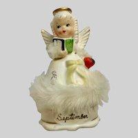Mid-Century Napco September Birthday Angel A4588 Ceramic Figurine Japan