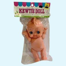"Vintage Big Rubber Kewtie Doll Old Stock New in Package 8"""