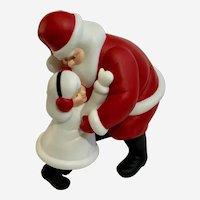 Christmas Santa Claus Hugging Girl Department 56 Figurine