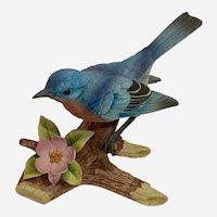 1980s Bluebird by Andrea Sadek Porcelain Bird Figurine Japan