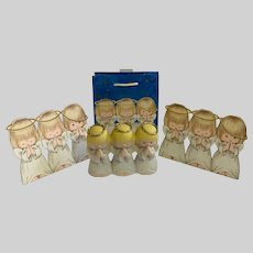 1997 Hallmark Three Angels Figurine & Matching Ephemera Group