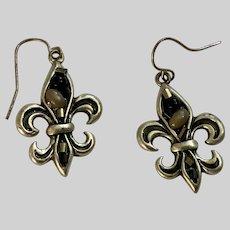 Silver-Tone Earrings with Fishhook Loops for Pierced Ears