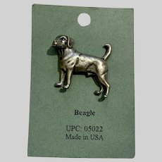 Beagle Dog American Pewter Works 1986 Lapel Pins