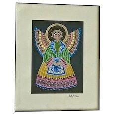 Nelly Weldon, Folk Art Angel Print