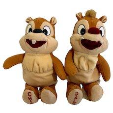 Chip & Dale Stuffed Plush Disney Animals