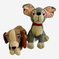 Lady and the Tramp Dogs Stuffed Plush Animals