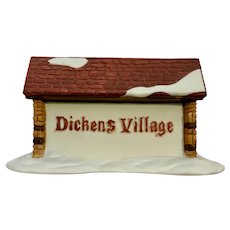 Christmas Department 56 Dickens Village Porcelain Sign By Jiean Fung 65692