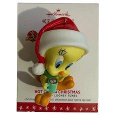 Hot Cocoa Santa Tweety Bird Looney Toons Hallmark Keepsake Ornament 2016