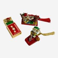 Hallmark Vintage Christmas Ornaments & Decorations Mice and Raccoon