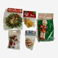 Vintage Christmas Decorations and Ornaments Circa 1980s NIB