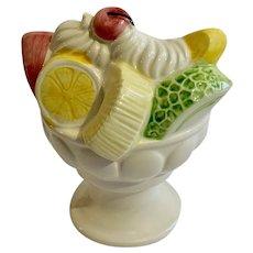 Vintage Relpo Fruit Ice Cream Sundae Planter Vase Japan
