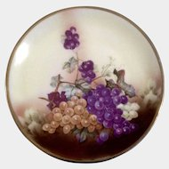 C.T. Altwasser Silesia Plate, Germany, Porcelain Grapes & Leaves Vintage Dish