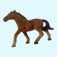 Brown Horse, Bone China Figurine Souvenir of New Orleans Louisiana Hand Painted Japan Mid-Century