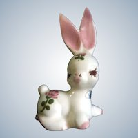 Delee Honey Bun Bunny Rabbit Pottery Figurine (1940's-1950's) California Pottery Hand Painted