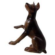 Retired Hagen Renaker Mini #827 Doberman Pinscher Miniature Ceramic Dog Figurine