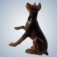 Hagen Renaker Doberman Pinscher Dog Figurine Mini #827 Miniature Ceramic Retired