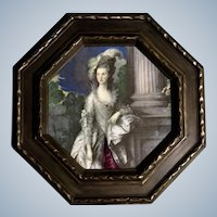 Ceramic Tile The Honorable Mrs. Graham Figural Picture Transfer Victorian Lady