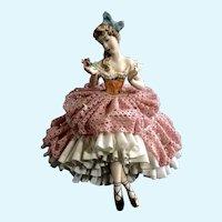 Mid-Century Martha Budich Dresden Ballerina Figurine Porcelain Germany