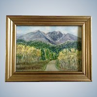 Stephen Reed, Small Oil Painting of Longs Peak Estes Park, Colorado, Signed by Artist