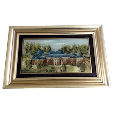 University of Maryland Campus Historical Building Reverse Glass Painting