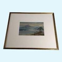Thomas Mortimer (1880-1920) Watercolor Painting Sails Como Lake Italy