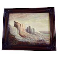 Lynne Hosid, Beautiful Desert Mountain Bluffs Oil Painting Signed by Artist