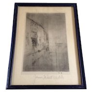 James Abbott McNeill Whistler (1834 – 1903) Nocturne: Palaces, Vintage Museum Souvenir Print VII